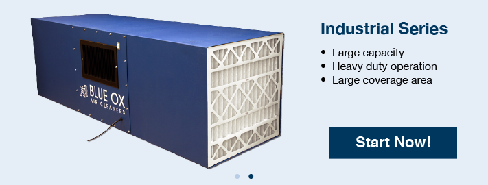 Industrial Filtration Units : Industrial air cleaners commercial blue ox